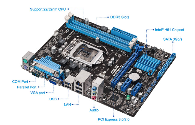 ASUS H61M-D Driver for Windows Download
