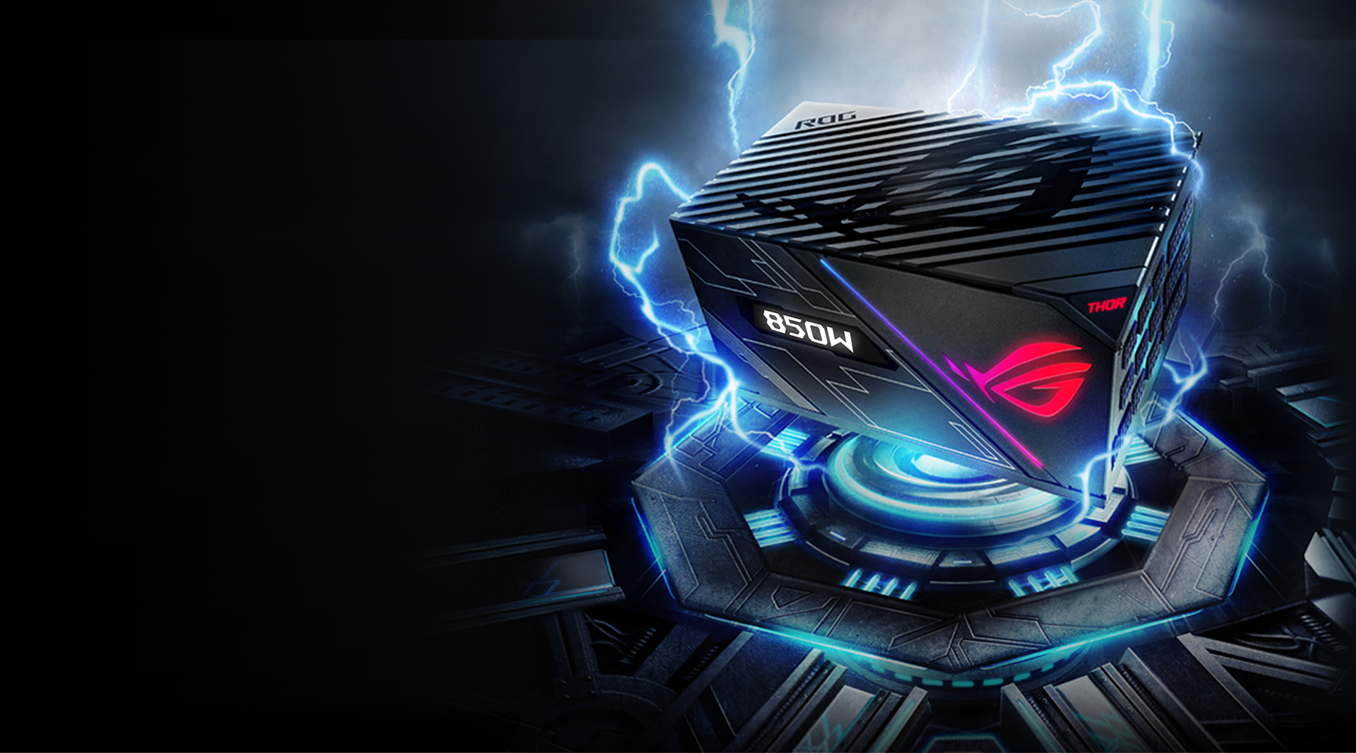 Platinum 850W Fully Modular RGB Power Supply ASUS ROG Thor 850 80