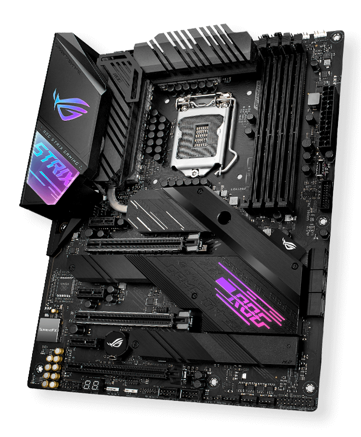 Image of the 10th Gen Intel CPU Z490 motherboard by Asus