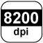 8200 dpi