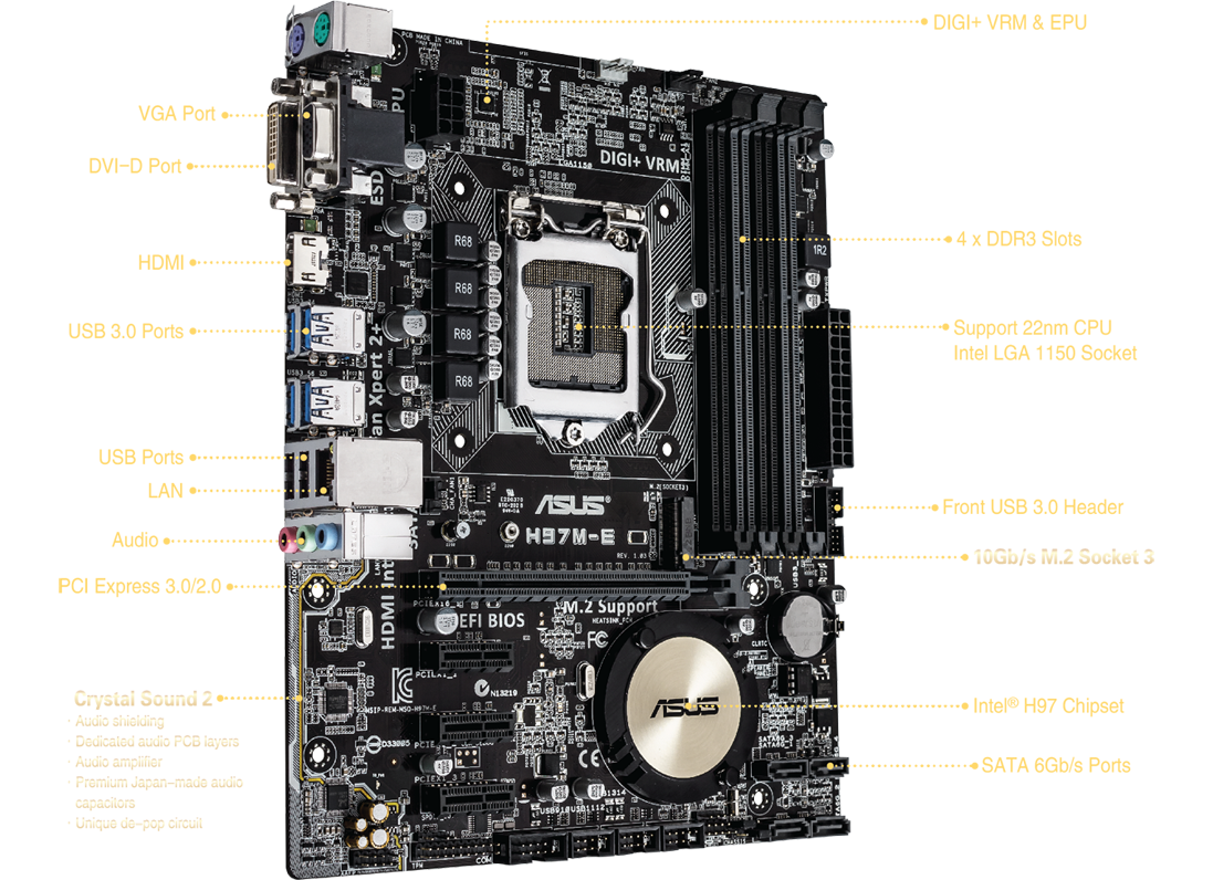 H97m E Csm Motherboards Asus Usa Circuit Diagram Of The Power Train A Typical Atx Computer