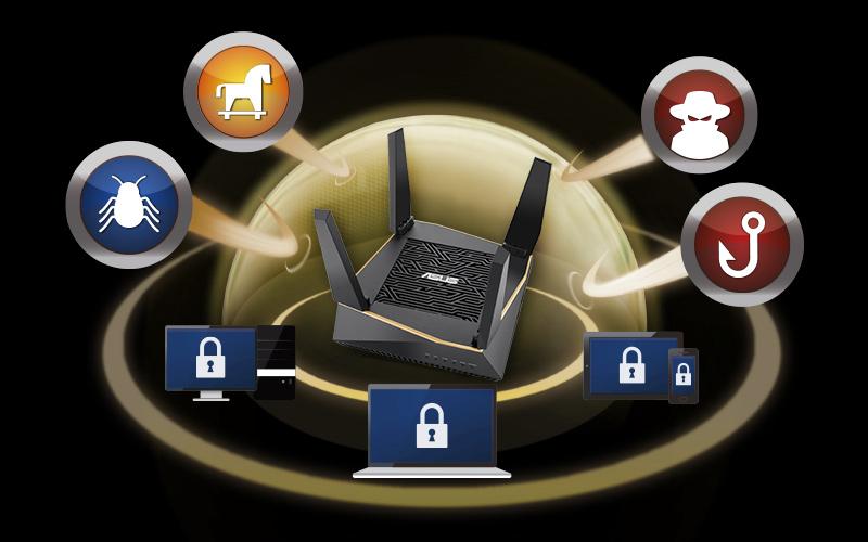 Asus RT-AX92U AX6100 Tri-band WiFi 6 (802.11ax) Gaming Router 12
