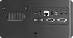 Rich I/O ports including 2 COM ports, HDMI-out port and VGA-out port