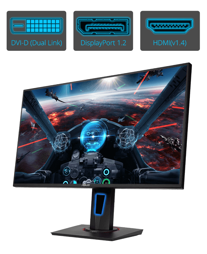 "Image result for Designed for intense, fast-paced games, ASUS VG258Q is a 24.5"" Full HD gaming display with an ultra-fast 1ms response time and blazing 144Hz refresh rate to give you super-smooth gameplay. VG258Q features Adaptive-Sync (FreeSync™) technology to eliminate screen tearing and choppy frame rate."