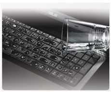 Spill-proof keyboard with drainage design