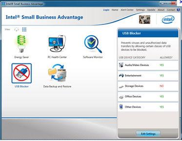 Intel® Small Business Advantage (Intel® SBA) included