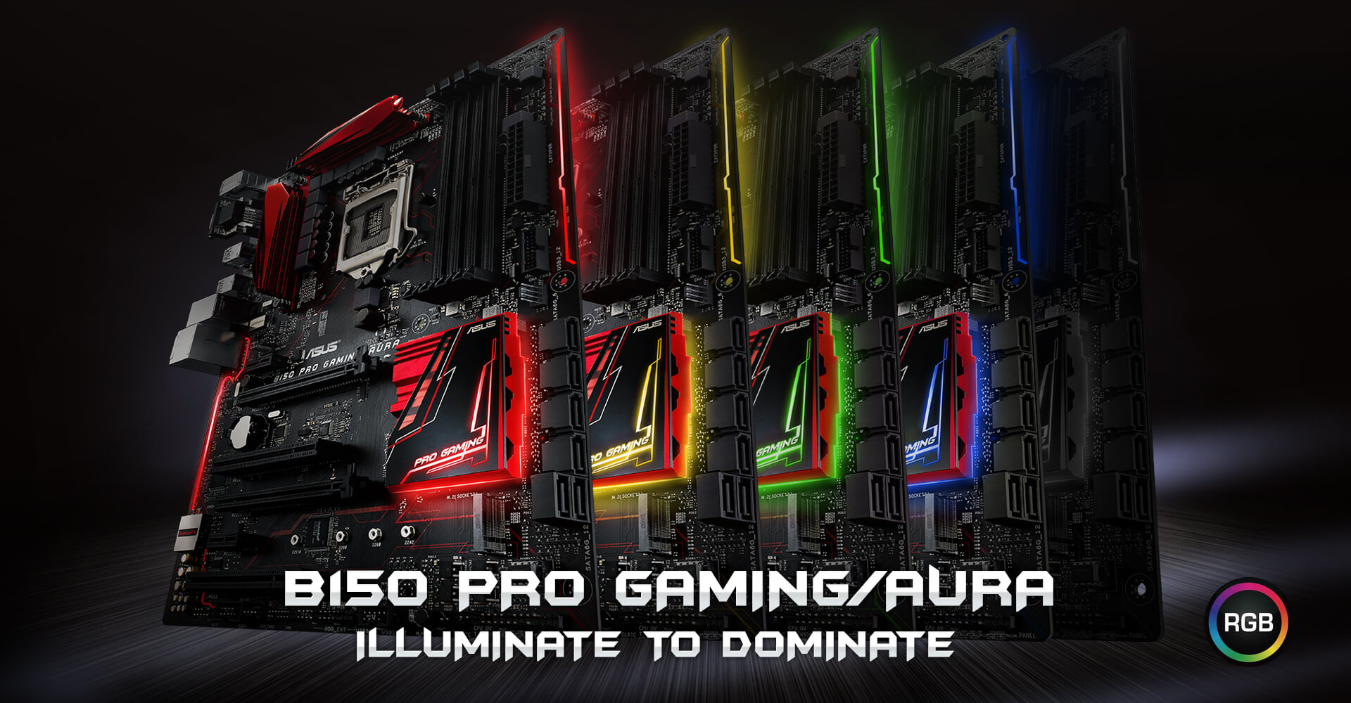 B150 PRO GAMING/AURA   Motherboards   ASUS USA