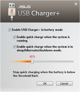 USB 3.0 and USB Charger+