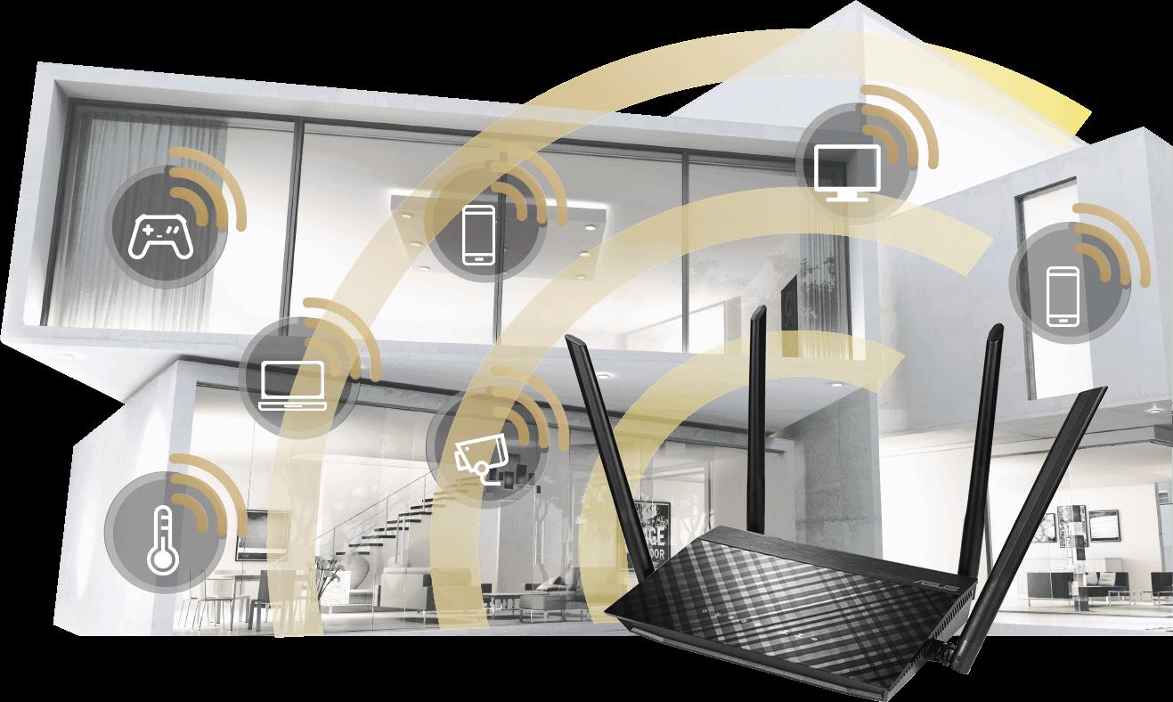 Extend Seamless AiMesh WiFi System.