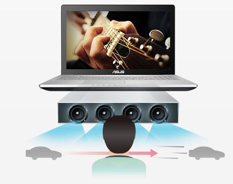 quad-speaker array surround sound
