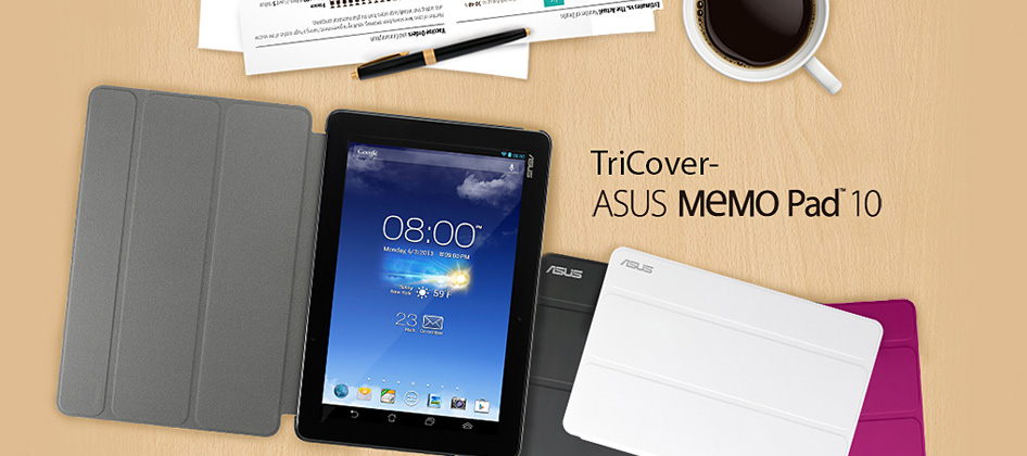 Asus memo pad 10 tricover tabletaccessoires asus nederland for Housse asus memo pad 10